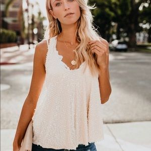 From Vici - Always Glisten Sequined Tank - blush